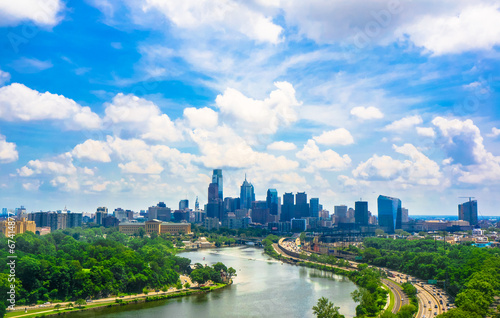 Philadelphia skyline Fototapeta