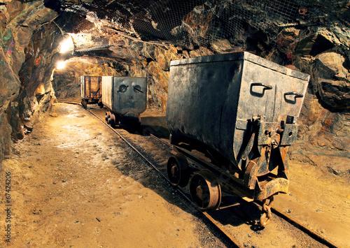 Fotomural Underground mine tunnel, mining industry