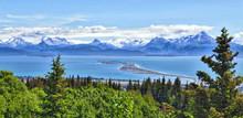 Alaskan Mountain And Bay, Homer Spit, Kenai Peninsula