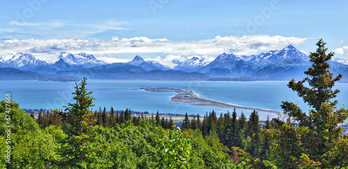 Alaskan mountain and bay, Homer Spit, Kenai Peninsula Canvas-taulu