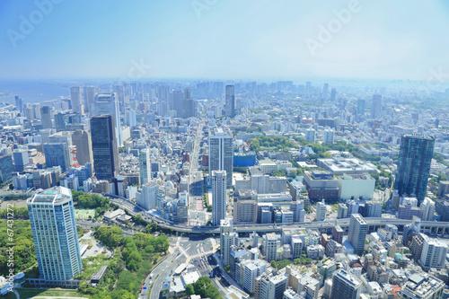 Spoed Foto op Canvas Tokyo 東京タワーからの眺め
