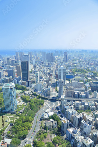 Foto op Aluminium Tokyo 東京タワーからの眺め