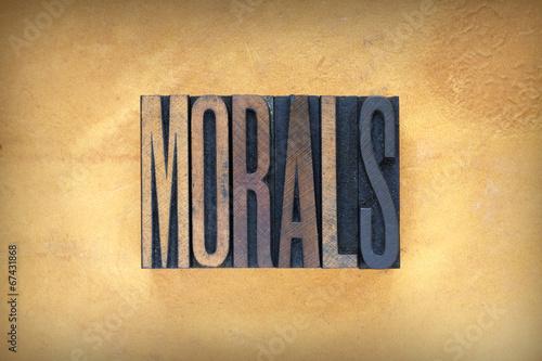 Fotografie, Obraz  Morals Letterpress