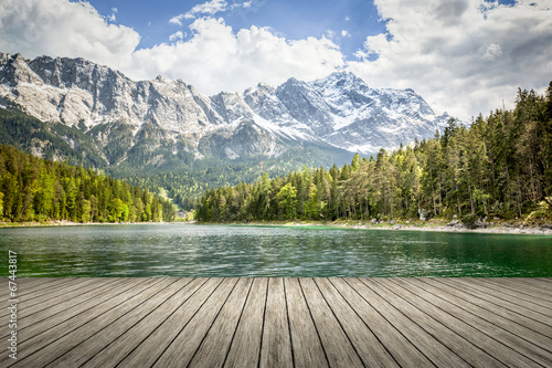 Canvas Prints Alps Eibsee Zugspitze