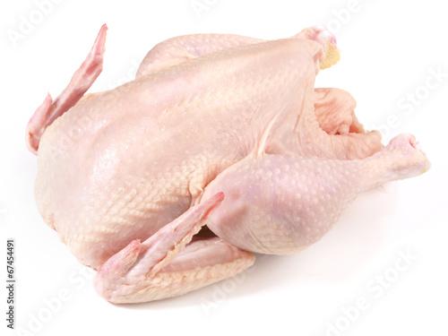 Keuken foto achterwand Kip Rohes Hähnchen