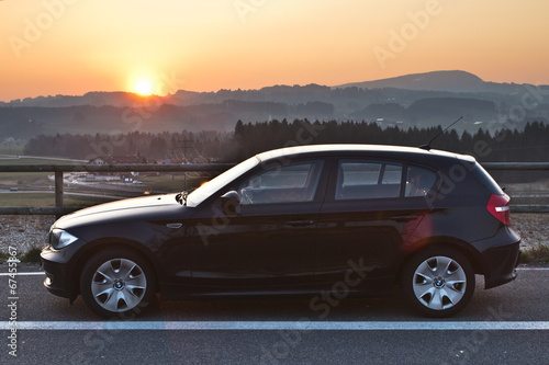 Photo  BMW Sonnenuntergang Sunset