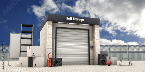 Poster Industrial geb. self storage