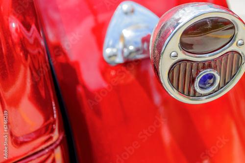 фотография  restored red  ford streetrod taillight