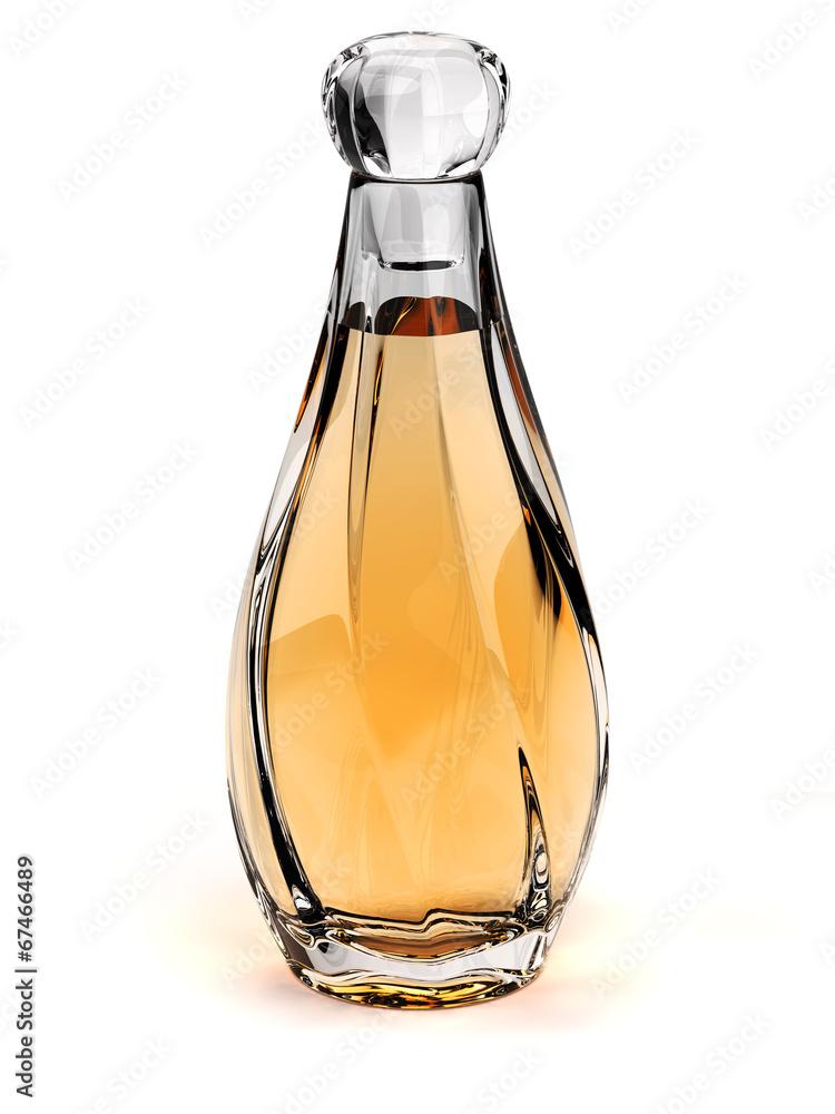 Fototapety, obrazy: Perfume glass bottle - Eau de toilette