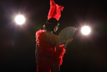 Burlesque Dancer With Red Plum...