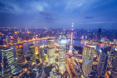 Foto op Aluminium Shanghai Shanghai, China Aerial View