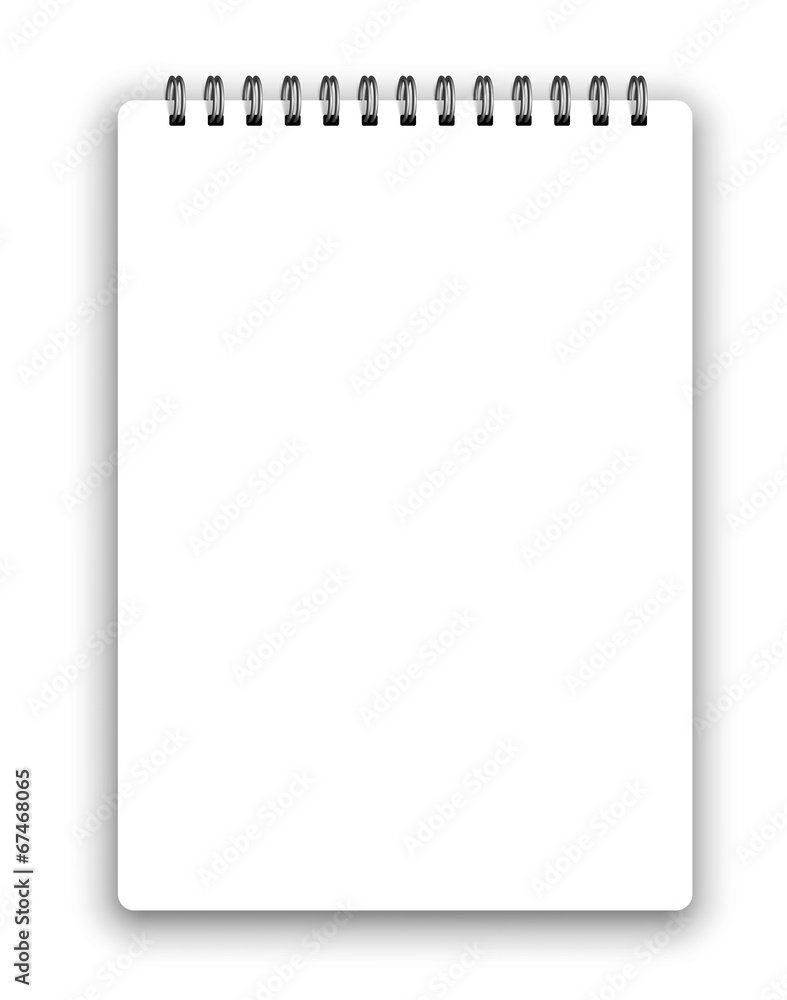Fototapety, obrazy: Vertical spiral notepad
