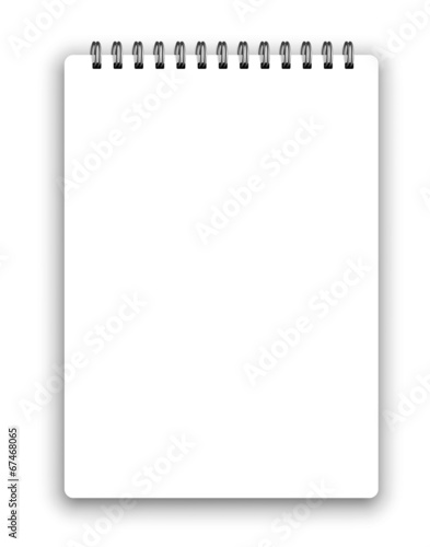 Fototapeta Vertical spiral notepad