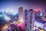 Chongqing, China Downtown Cityscape at night