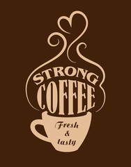 Fototapeta Kawa Strong coffee poster