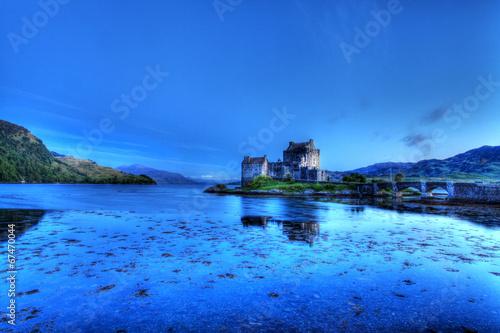 Tuinposter Turkoois Eilean Donan Castle