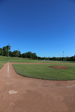 Ball Field And Blue Sky