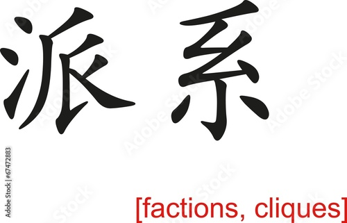 Fotografie, Tablou  Chinese Sign for factions, cliques