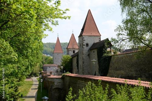 Stadtmauer in Amberg Canvas Print