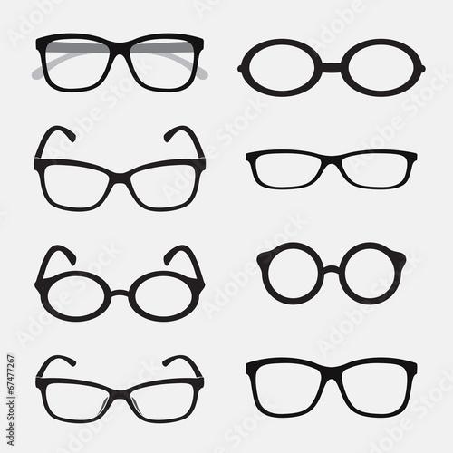 Fotografía  Vector group of an Glasses