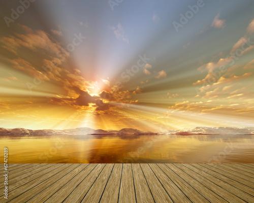 obraz dibond Golden Sunset