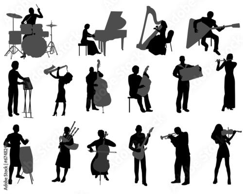 Vászonkép  musicians