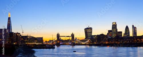 Poster London London Skyline Panoramic