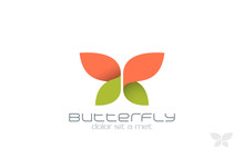 Butterfly Fashion Vector Logo Design. Insect Creative Icon