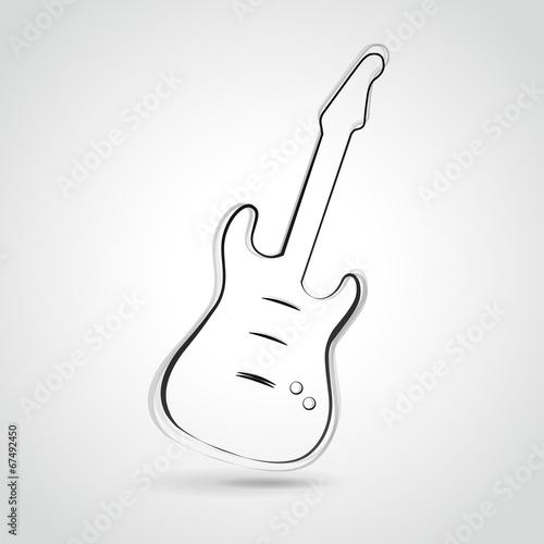 Obraz na płótnie Vector guitar illustration