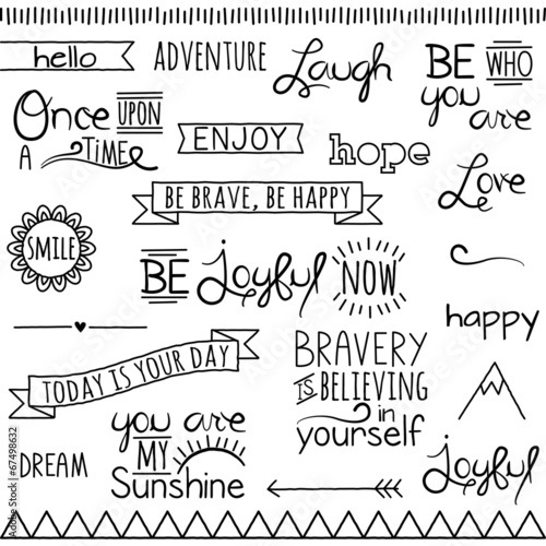 Photo  Vector Collection of Hand Drawn Doodle Word and Phrases