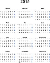 Kalender 2015 Universal - Ohne...