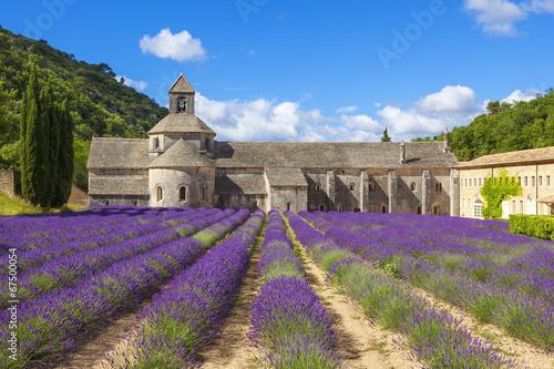 In de dag Lavendel Abbey of Senanque