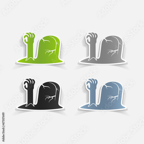 realistic design element: tombstone Fototapet
