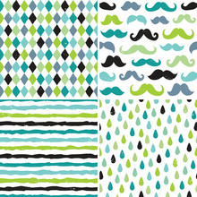 Seamless Hipster Patterns In B...