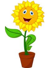 Sunflower Cartoon