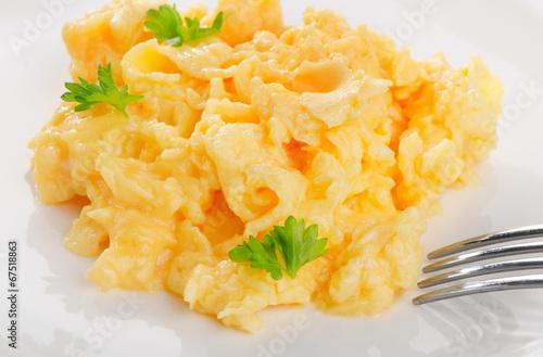 Deurstickers Gebakken Eieren Scrambled eggs