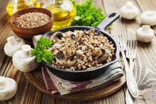 Buckwheat Porridge With Mushrooms
