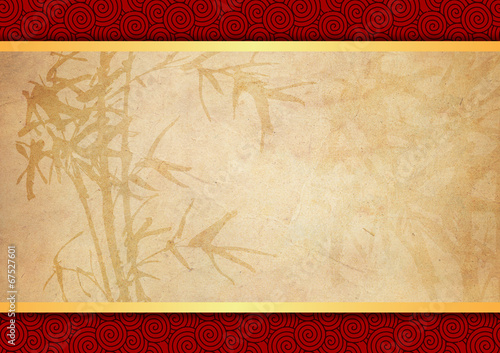 Fotografie, Obraz  Oriental bamboo pattern background