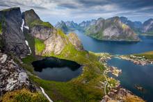 Beautiful Norwegian Landscape - View Of Fjords