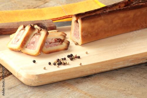 pâté en croute Fototapet