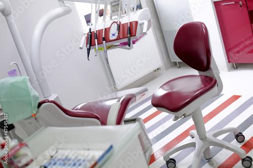 Fototapeta Dental office equipment chair obraz