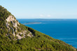 Panoramic view of Mountains and sea from Lubenice in Cres