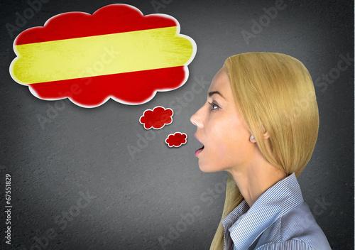 Foto  Spanish learning woman
