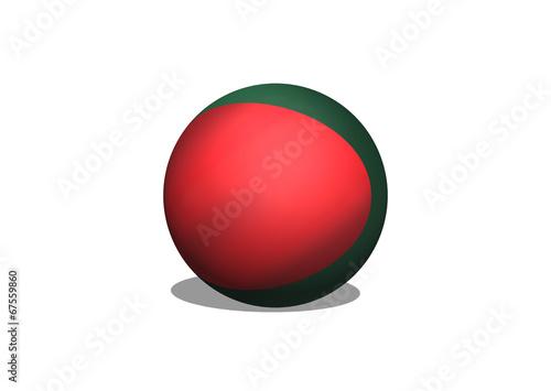 Fototapete - Bangladesh flag themes idea design