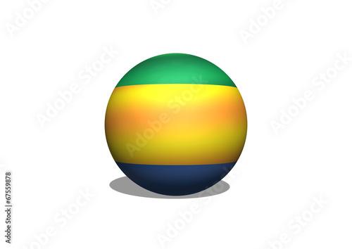 Fototapete - flag of Gabon themes idea design
