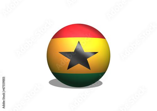 Fototapete - National flag of Ghana themes idea design