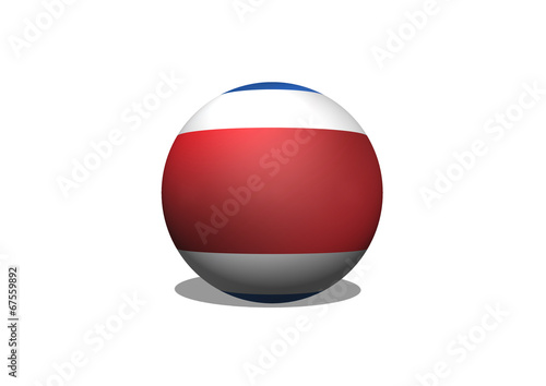 Fototapete - National flag of Costa Rica themes idea design