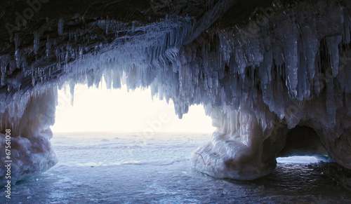 Ice Cave - inside looking out