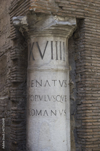 ancient roman column Canvas Print