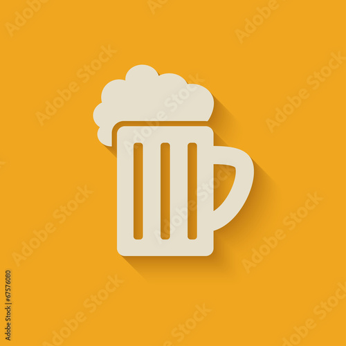 Fotografering  beer mug design element